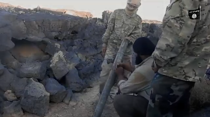 Documentation of ISIS operatives firing from the Al-Safa area (Shabakat Shumukh, November 20, 2018)