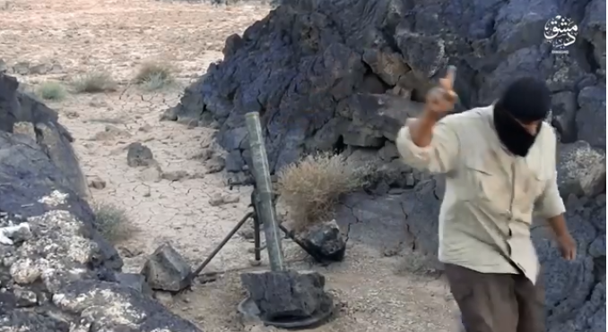 ISIS's operatives firing from the Al-Safa area (Shabakat Shumukh, November 20, 2018)