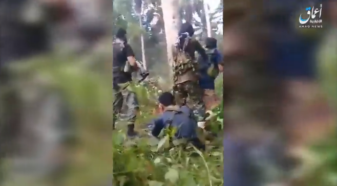 Four ISIS operatives who took part in an ambush against the Philippine army on the island of Jolo (Amaq News Agency, November 19, 2018)
