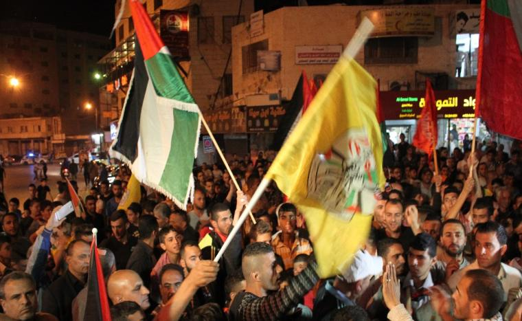 A large Fatah rally in Jenin, during which a main street was named for Karim Yunes.