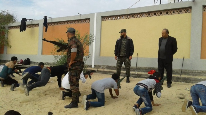 Al-Futuwwa activities in a school in the central Gaza Strip (Facebook page of the national security apparatus in the Gaza Strip, November 24, 2018).