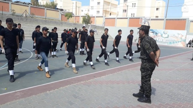 46521Al-Futuwwa activity in high schools in the central Gaza Strip and Western Khan Yunis (Facebook page of the national security apparatus in the Gaza Strip, November 24, 2018).540_2225616244124289_1238053412885495808_o
