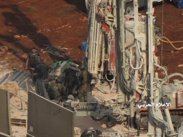 Pictures published by Hezbollah's combat information unit documenting the IDF activity on the border