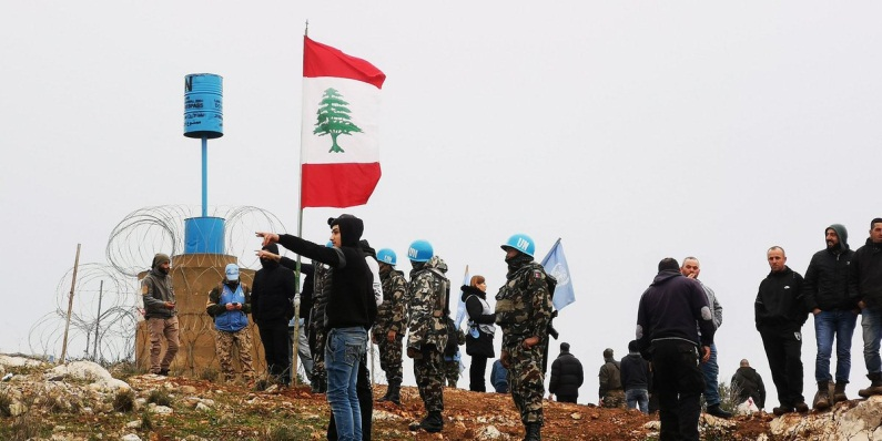 : A UNIFIL force in the region of the south Lebanese village of Meis al-Jabal.