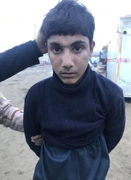 The boy who drove the car bomb, an ISIS suicide bomber.