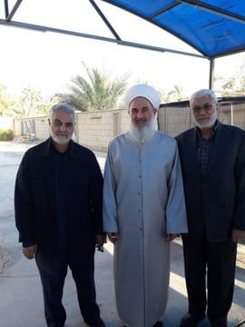 The meeting with Iraq's mufti, attended by Soleimani and Abu Mahdi al-Muhandis (BaghdadToday.news, December 4 2018).