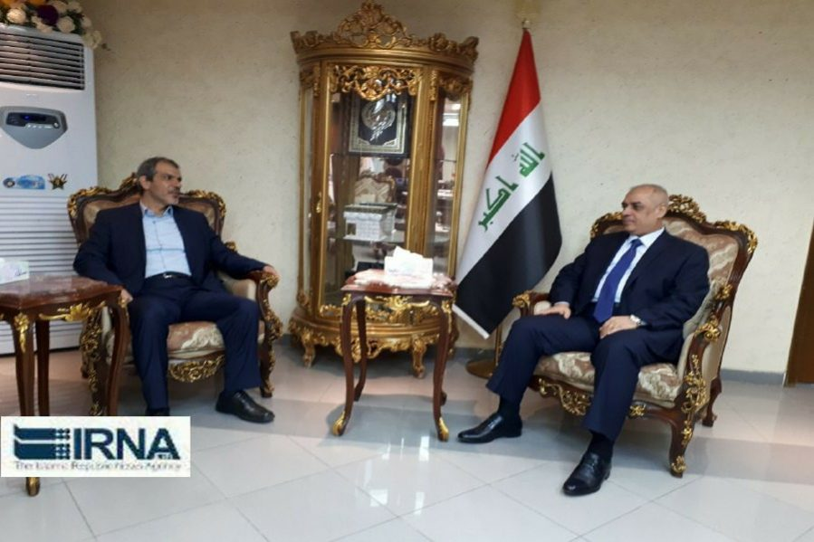 The meeting between the Iraqi minister of transportation and the adviser of the Iranian deputy president (IRNA, December 9 2018).