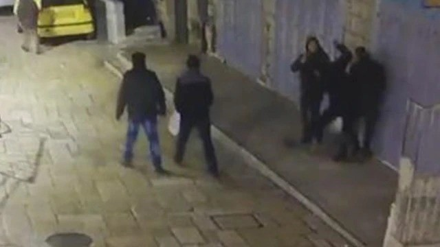Surveillance camera footage of the stabbing attack in the Old City in east Jerusalem (Arabs48, December 13, 2018).