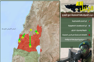 Hezbollah boasts its forces will occupy the Galilee in the next war. The map shows Hezbollah's spearheads inside Israel in green (Hezbollah's moqawama.org website, October 1, 2012).