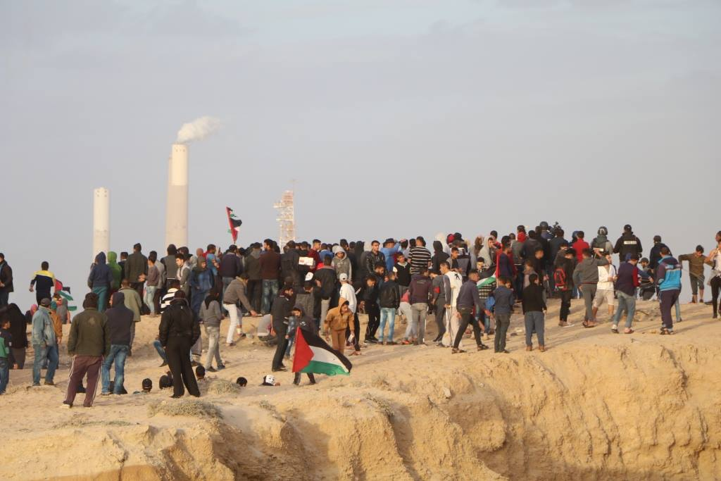 The weekly demonstration and mini-flotilla in the northern Gaza Strip (Facebook page of the Popular Front's information office in the northern Gaza Strip, December 17, 2018).