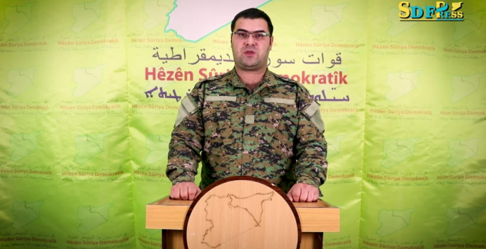 SDF Forces Spokesman Kino Gabriel (SDF Press, December 24, 2018)