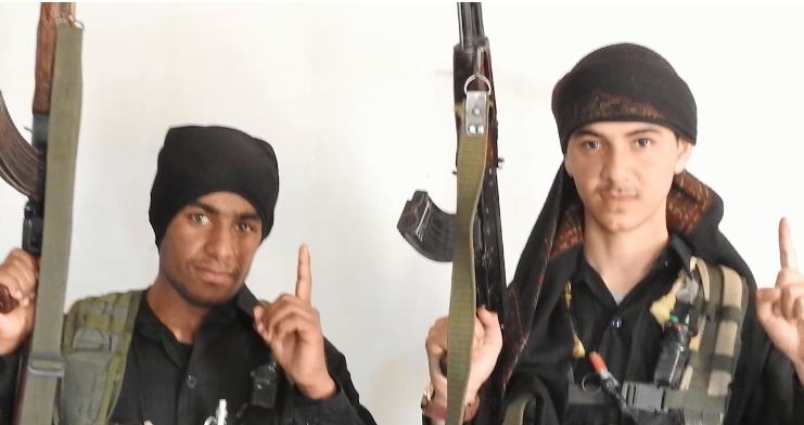 Both terrorists before leaving for the suicide bombing attack (Al-Ghurabaa, December 25, 2018) The