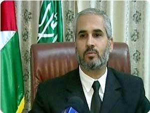 Hamas's spokesman Fawzi Barhoum: The Jewish Lobby in the US is behind the American economy (photo: Palestine Info, October 7, 2008)