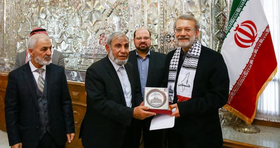 The meeting between Ali Larijani and the Palestinian delegation headed by Mahmoud al-Zahar ( ICANA.IR, December 22, 2018)