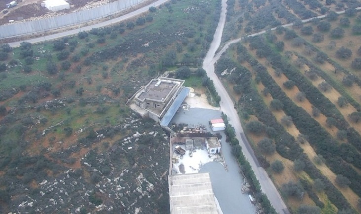 Pictures documenting the flood of concrete pouring from the tunnel opening in Israel into the village of Kafr Kila. It is close to the concrete block plant from which the tunnel was dug into Israeli territory (IDF spokesman, December 27, 2018).