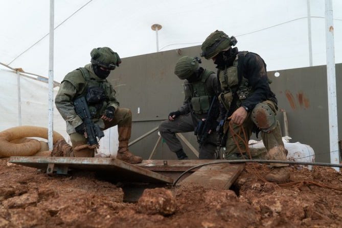 IDF forces neutralize a Hezbollah tunnel on the Lebanese border (IDF spokesman, December 27, 2018).