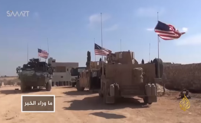 US forces in Manbij (Al-Jazeera Channel, based on the Syrian SMART News Agency, December 28, 2018).