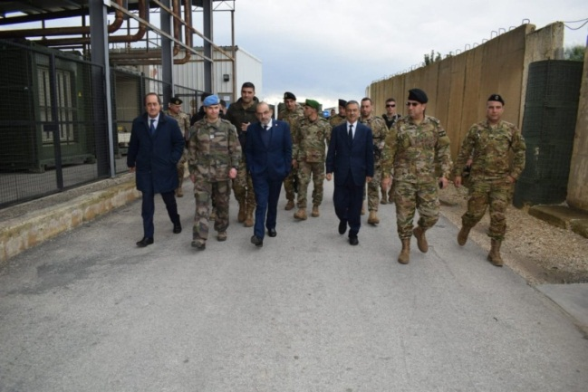 The Lebanese foreign minister on a visit to the region (Yacoub Sarraf's Twitter account; UNIFIL website, December 31, 2018).