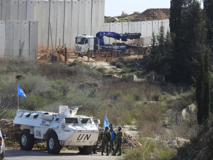 IDF activity to build the security fence near the village of Adaisseh, documented by Ali Shoeib, a correspondent for Hezbollah's al-Manar and Radio Nur in south Lebanon (Ali Shoeib's Twitter account, January 13, 2019).