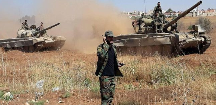 Syrian army tanks, apparently in the rural area north of Hama (SANA, January 15, 2019)