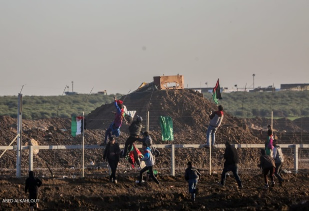 Attempts to sabotage the security fence and even cross it into the Israeli side (Facebook page of the Supreme National Authority of the Return Marches, January 11, 2019). The examination of the list of fatalities shows that Hamas operatives are prominent among those in the front line of the confrontations.