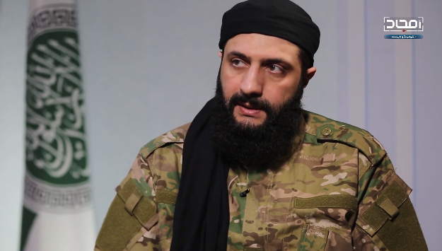 HLS Commander Abu Mohammad al-Julani, during the interview (the HLS-affiliated Amjad Video Production Agency, January 14, 2019)