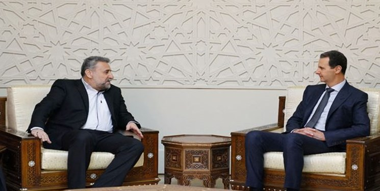 The meeting between the Syrian president and the chairman of the Majlis Foreign Policy and National Security Committee (Fars, January 14 2019).