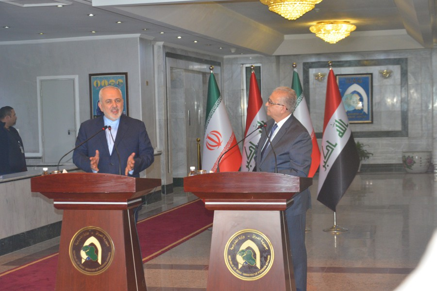 The Iranian and Iraqi ministers of foreign affairs (IRNA, January 13 2019).