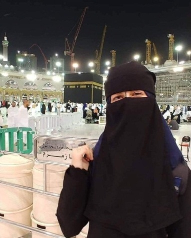 Samah Mubarak on a pilgrimage to Mecca (Paldf Twitter account, January 31, 2019).