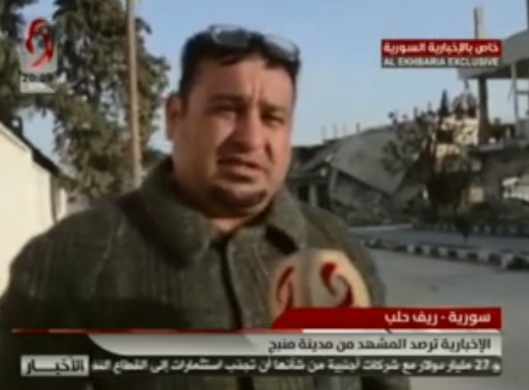 Residents of the city of Manbij expressing support for the Syrian army and opposition to Turkish involvement (Syrian TV, February 1, 2019)