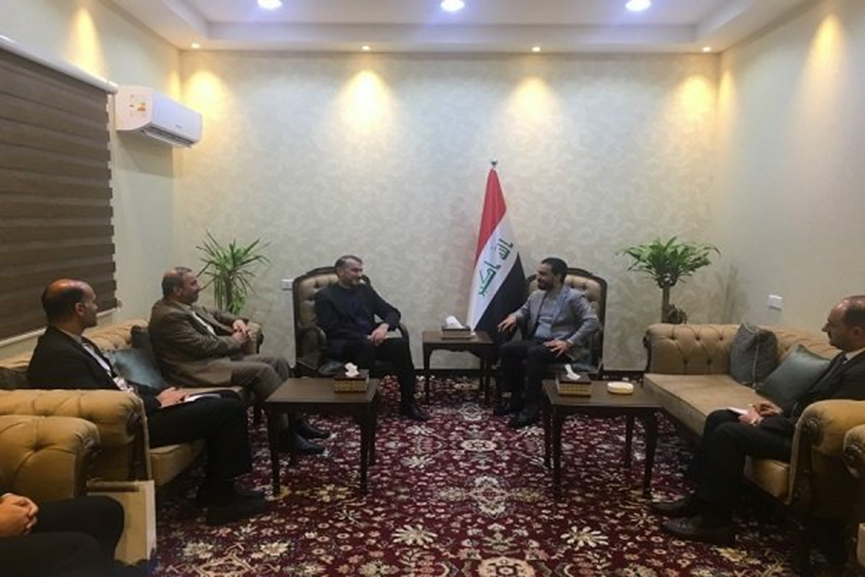 A meeting between Abdollahian and the speaker of the Iraqi Parliament (Mehr, February 5 2019).