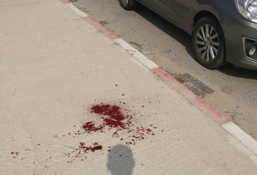 The scene of the stabbing near Hawwara, south of Nablus  (Shehab website, October 11, 2018).