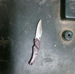 The knife found in the possession of the Palestinian woman in 2018 (Israel Police Force, January 8, 2018).