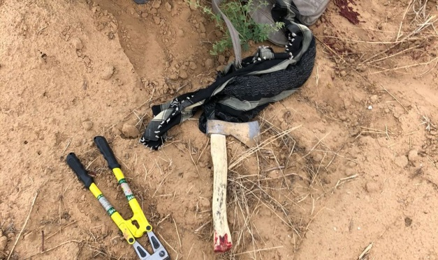 The equipment of the terrorist squad that tried to break into Israeli territory (IDF spokesman, May 6, 2018).