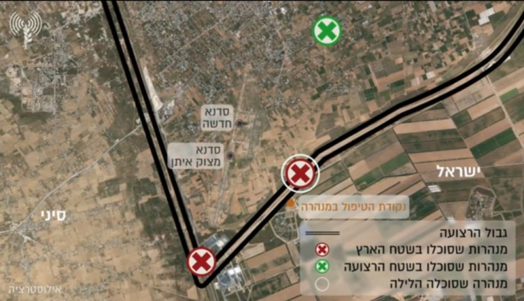 he location of the Hamas tunnel penetrating into Israeli territory. The tunnel was attacked by the IDF (IDF spokesman's website, March 18, 2018).