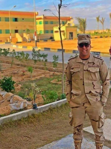 Lieutenant Abd al-Rahman Ali Mohammad, the officer who was killed in the attack (Egypt's Military News@Egy_military Twitter account, February 16, 2019)