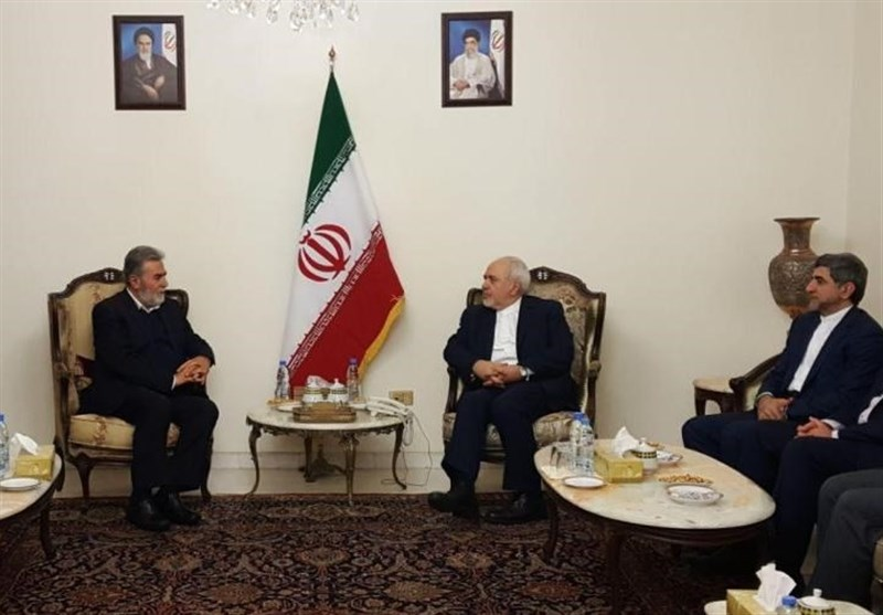 The meeting of Iran's foreign minister with representatives of Palestinian organizations in Beirut (Tasnim, February 10 2019).