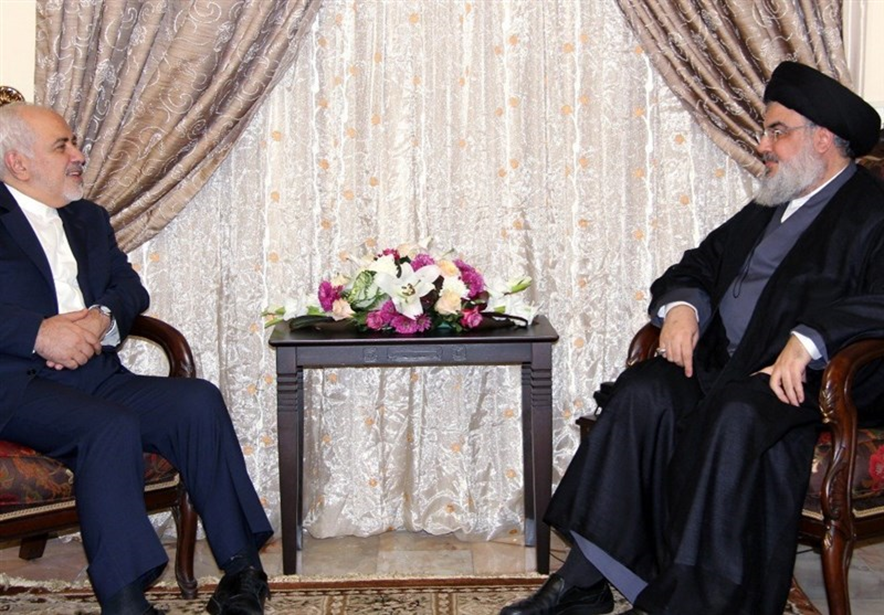 The meeting between Iranian minister of foreign affairs and Hassan Nasrallah (Tasnim, February 11 2019).