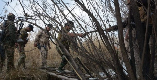 Popular Mobilization operatives during an operation that destroyed ISIS hiding places in the western part of the Diyala Province (al-hashed.net, February 23, 2019)