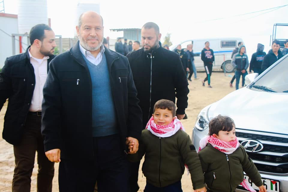 Khalil al-Haya, a member of Hamas' political bureau, during