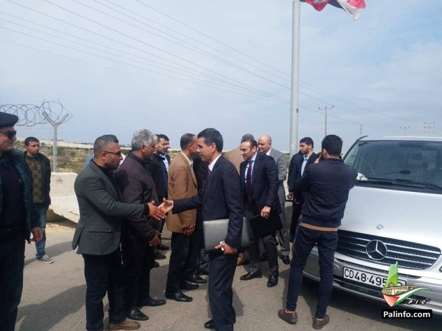 The Egyptian security delegation enters the Gaza Strip (Palinfo Twitter account, March 5, 2019).