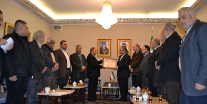 The meeting of the Iranian ambassador with the leaders of Palestinian factions in Damascus (Fars, March 4, 2019)