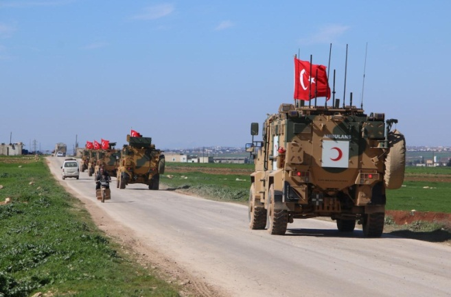 Turkish patrol vehicles (Twitter page of the Anadolu News Agency @anadoluagency, March 8, 2019)