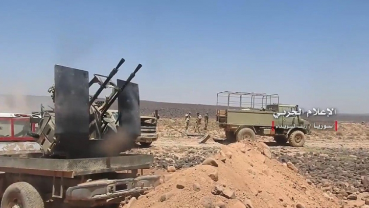 Syrian army force in the As-Suwayda Desert (Syrian Army Information Office, March 8, 2019)
