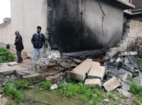 The home of the officer after the explosion (Al-Sumaria, March 8, 2019)