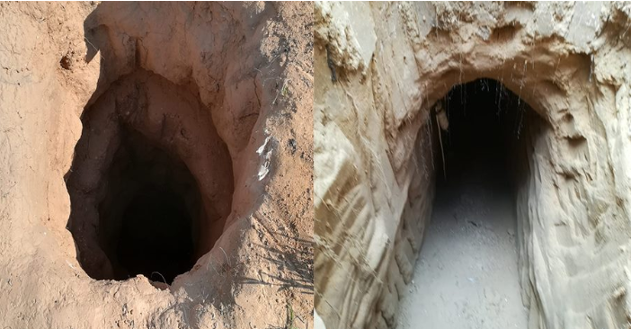 Tunnel openings found in northern Sinai.