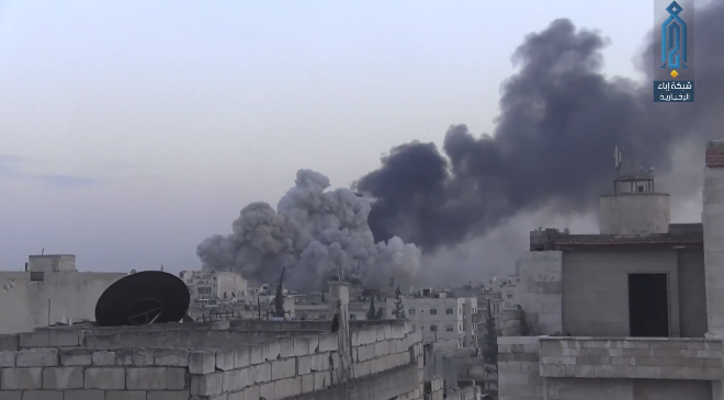 Russian fighter jets carrying out airstrikes in Idlib (Ibaa, March 16, 2019).