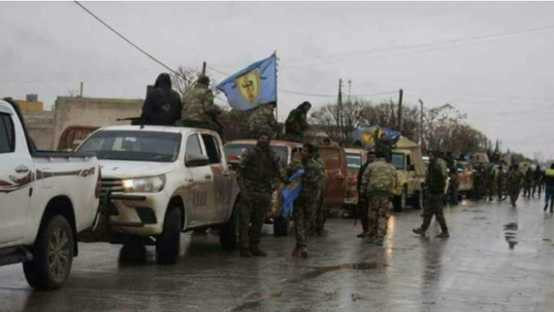 Forces of the Manbij Military Council reinforcing their troops in Manbij (Kurdish ronahi.tv website, March 18, 2019)