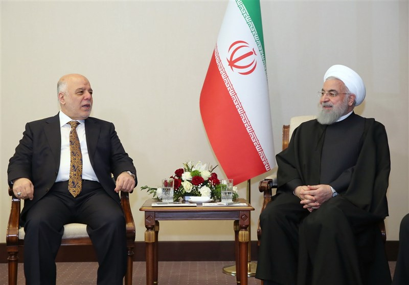 Rouhani in a meeting with former Iraqi Prime Minister, Haider al-Abadi (Tasnim, March 12 2019).