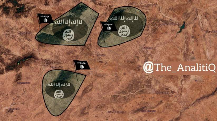 ISIS's areas of activity (Telegram, March 18, 2019).